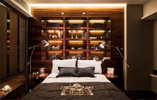 新古典卧室酒柜背景墙创意设计