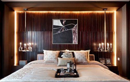 新古典风格卧室创意床头背景墙设计