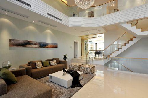 时尚简约复式住宅客厅设计