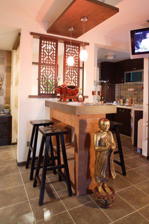 东南亚风格开放式厨房装修