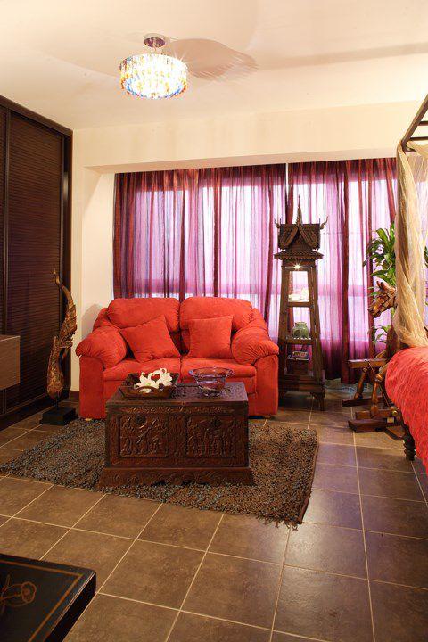 古典风格婚房卧室沙发效果图