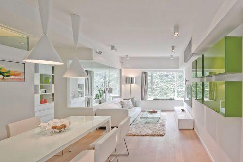 白色清新客厅吊顶效果图