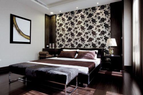 黑色的新中式风格卧室装修案例