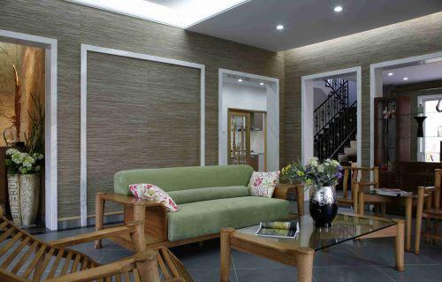 新中式风格别墅客厅装潢效果图