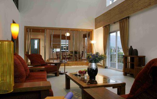 日系别墅客厅装饰设计效果图