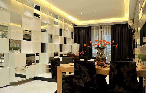 时尚简约客厅沙发背景墙效果图