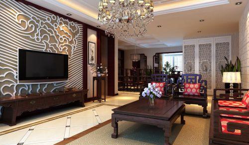 咖啡色古典风格客厅装修