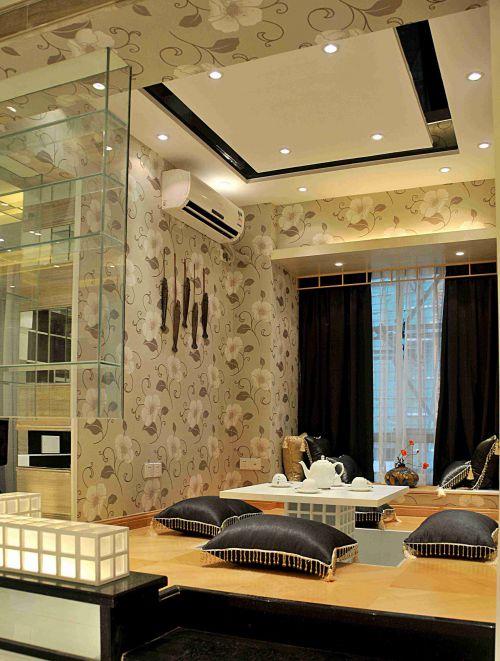 日式风格客厅榻榻米装修效果图