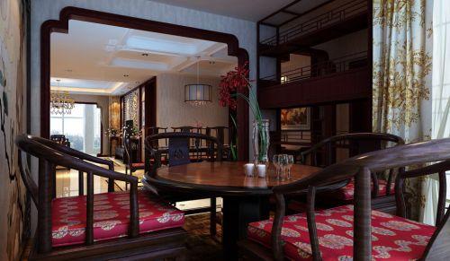 干净的古典风格餐厅餐桌设计