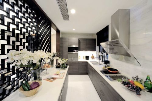 新古典风格厨房吧台装修