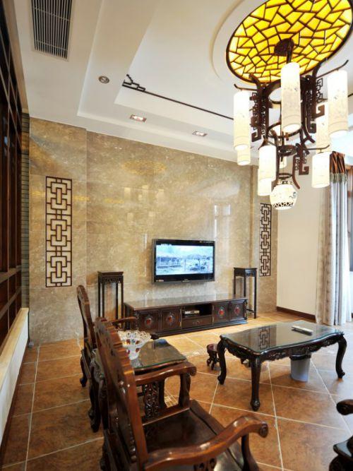 古色古香的古典风格客厅装修