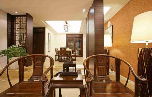 新中式风格玄关装饰设计效果图