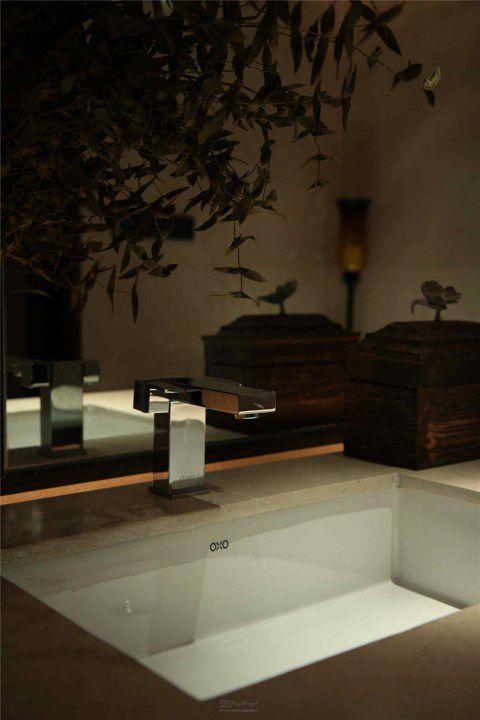 中式风格卫生间面盆装修