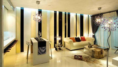 后现代风格客厅吧台装修效果图