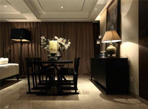 中式风格黑色餐桌装修