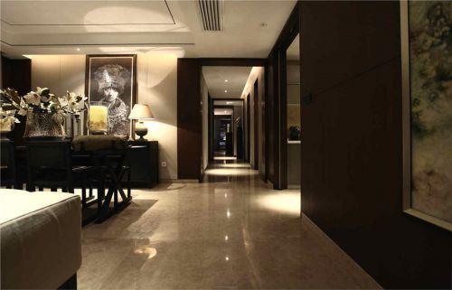 中式风格暗色调走廊装修案例