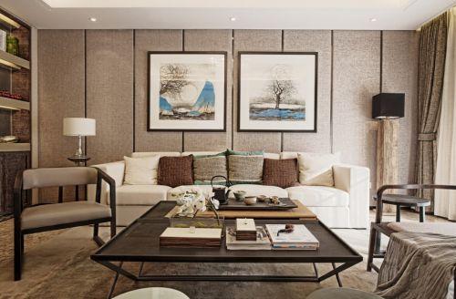 灰色的新中式风格客厅装修案例