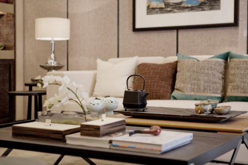 中式风格客厅茶几装饰