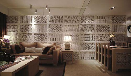 米色的文艺范客厅装修案例