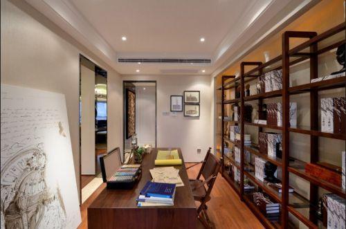 新中式书房设计效果图