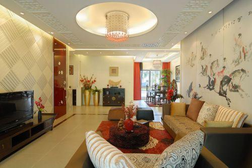新中式风格客厅装修案例