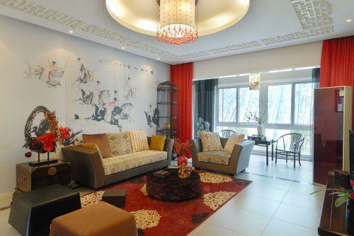 古典风格婚房客厅装潢