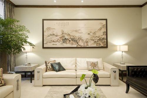 新中式风格白色的客厅装潢