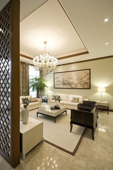 中式风格客厅隔断装修案例