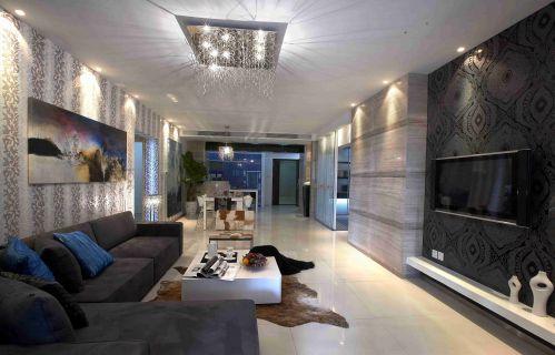 簡約風格客廳燈飾裝修設計圖片