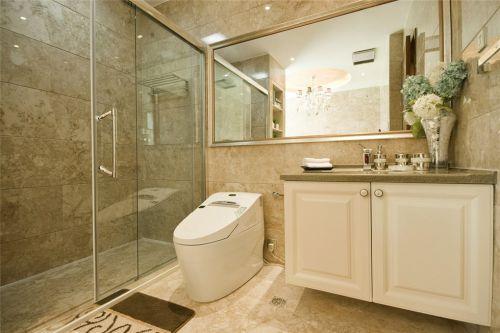 简约风格白色的卫生间装修案例