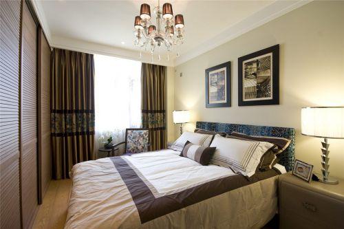 新中式风格灰色的卧室装潢