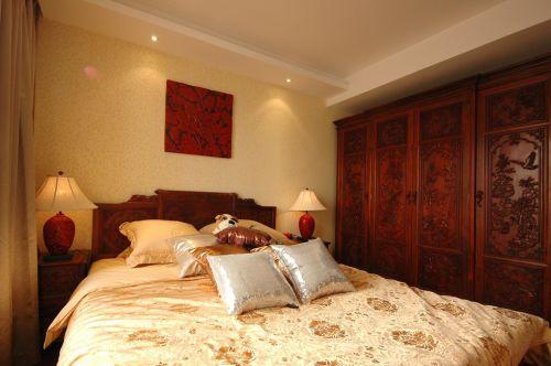 中式风格卧室衣柜效果图