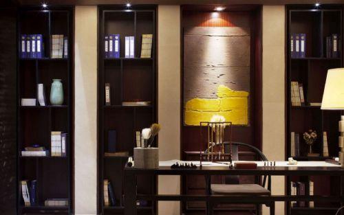 中式风格豪华别墅书房装修