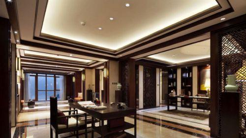 豪华中式风格别墅书房装修