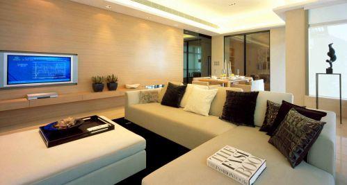 韩式风格客厅灯饰装饰设计效果图