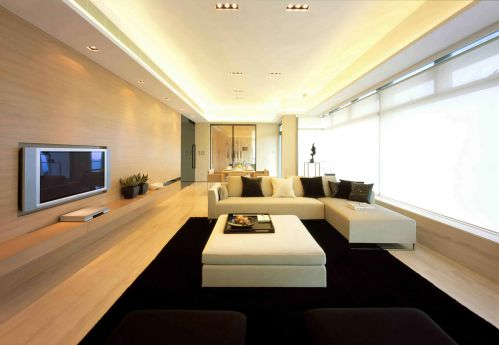 韩式风格客厅吊顶装饰设计图片