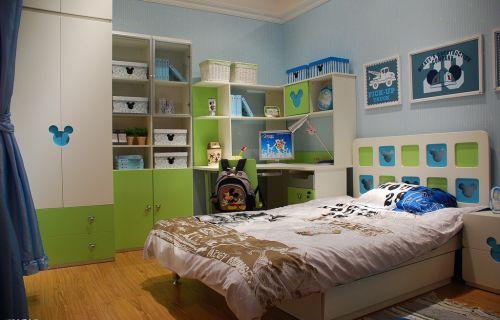 绿色的男孩儿童房装修案例