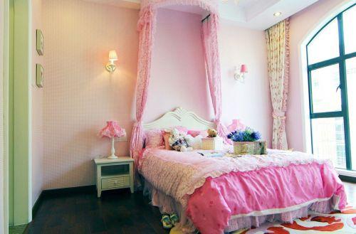 粉色的豪华欧式儿童房装修