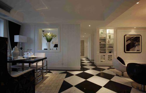 简约欧式风格餐厅复古地板效果图