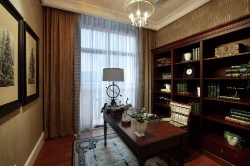 古典主义风格书房书柜效果图