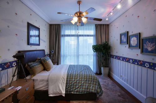 简欧风格蓝色儿童房间设计
