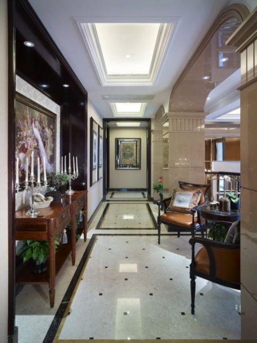 美式别墅客厅玄关装修效果图