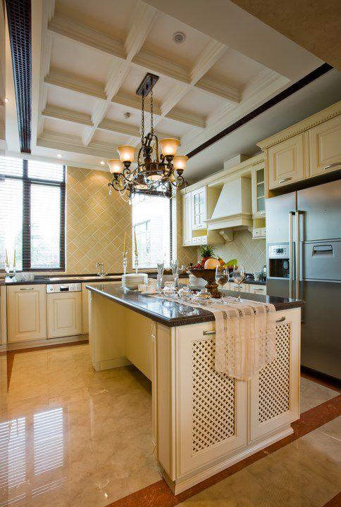 白色简欧厨房橱柜设计图