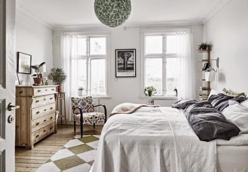 清新优雅卧室效果图
