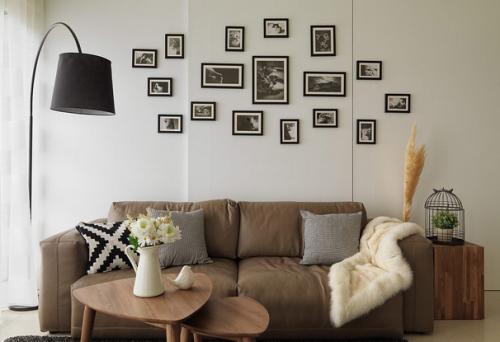 简约风格照片墙效果图