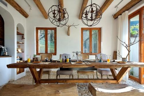 白色地中海风格餐厅效果图