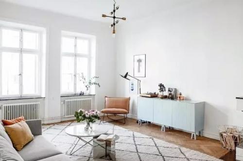 白色北欧风格客厅装修图