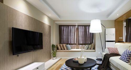 客厅木板电视背景墙装修效果图