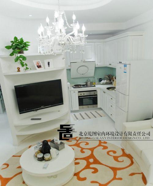 60平单身公寓电视背景墙装修效果图