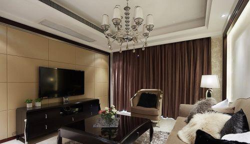 简约小户型客厅电视背景墙效果图欣赏